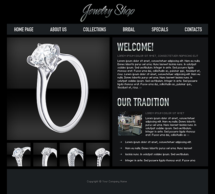 jewelry shop free flash template